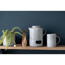 Teapot Shiny Ceramic Blue