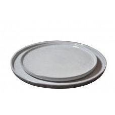 Plate Shiny Ceramic Blue