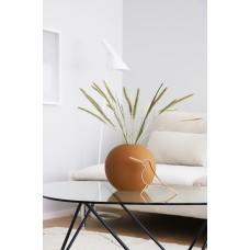 Vase Round Flat Terracotta