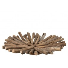 Dish Branches Round Fir Wood Natural