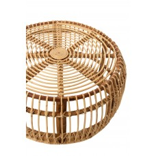 Table Round Rattan Natural