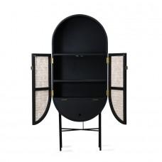 Retro Oval Cabinet Black