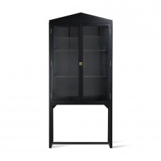 Crested Cabinet Showcase Black